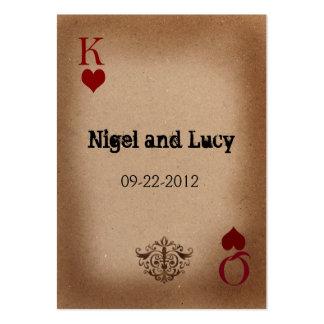 Vegas-Hochzeit lädt ein Mini-Visitenkarten