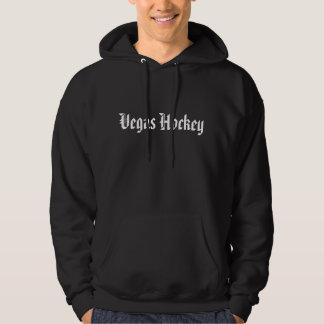 Vegas-Hockey-Schwarz-mit Kapuze Sweatshirt