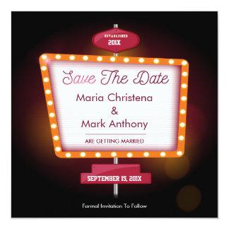 Vegas-Kasino-Themed Save the Date Mitteilung Quadratische 13,3 Cm Einladungskarte