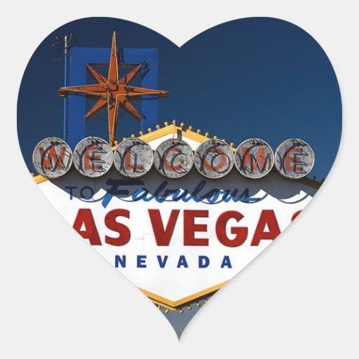Vegas-Zeichen-Dämmerungs-Hochzeits-Herzen Sticker