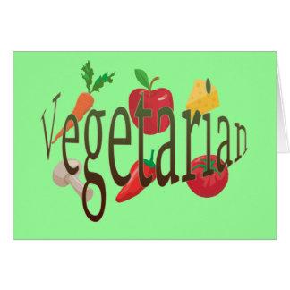 Vegetarier Karte
