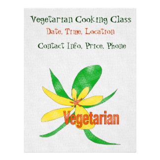 Vegetarische Blume Flyer Druck