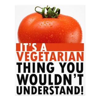 Vegetarische Sache 21,6 X 27,9 Cm Flyer