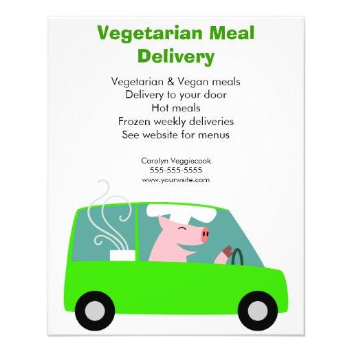 Vegetarischer Mahlzeit-Zustelldienst Flyerbedruckung