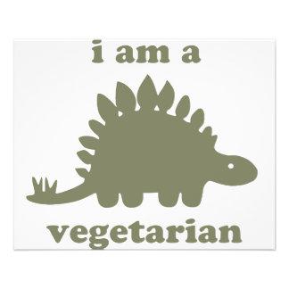 Vegetarischer Stegosaurus-Dinosaurier - Grün Personalisierte Flyer