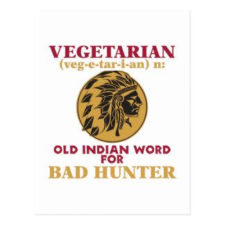 Vegetarisches altes indisches Wort für schlechten Postkarte