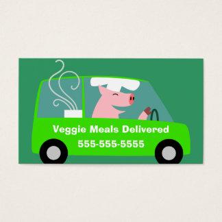 Vegetarisches Mahlzeit-Lieferungs-Geschäft Visitenkarte