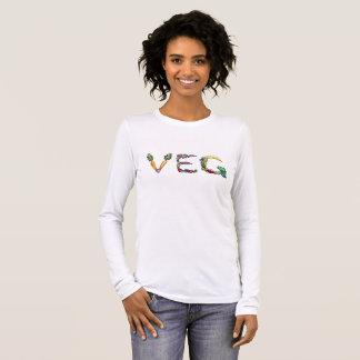 Vegetarisches oder veganes langes Hülsen-T-Stück Langarm T-Shirt