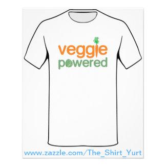 Veggie-Gemüse angetriebener Vegetarier 11,4 X 14,2 Cm Flyer