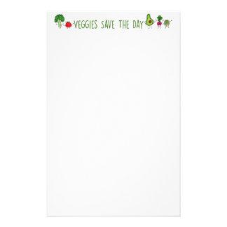 Veggies retten das Tagesbriefpapier Briefpapier