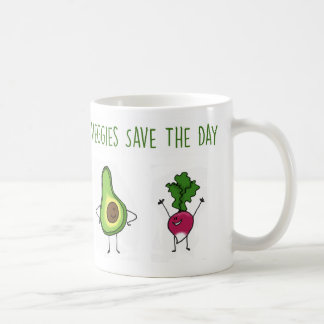 Veggies retten die Tagesavocado-und -rettich-Tasse Kaffeetasse