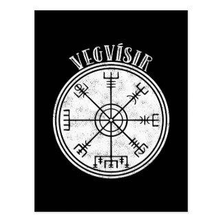 VEGVISIR isländische Kompass Daube Postkarte