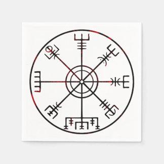 Vegvisir isländische schützende Runen Papierserviette