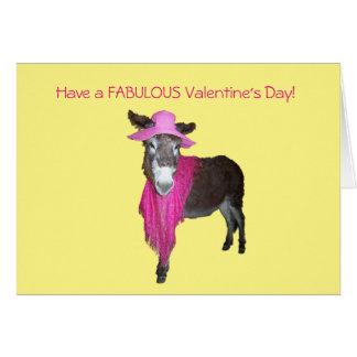 Veilchen der Esel gekleidet im Rosa Grußkarte