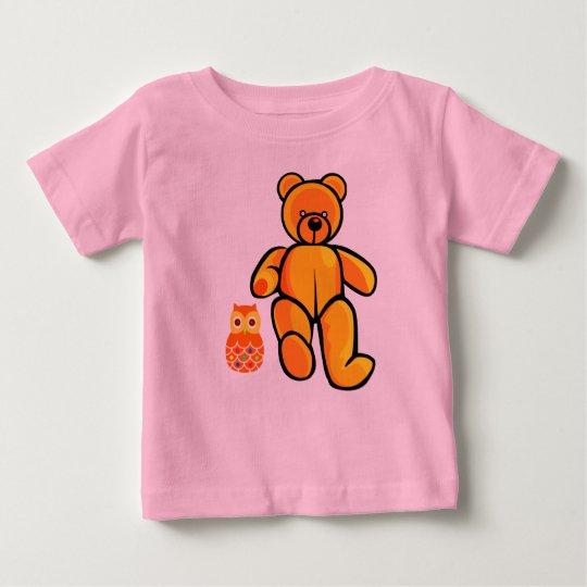 Vektorbär und -eule baby t-shirt