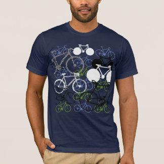 vélo-composition de recyclage t-shirt