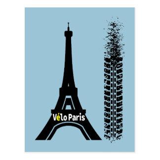 Velo Paris Fahrrad-Eiffelturm Postkarte