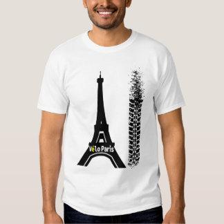 Velo Paris Fahrrad-Eiffelturm Tshirts