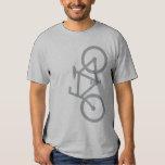 Vélo, silhouette verticale, conception grise tshirts