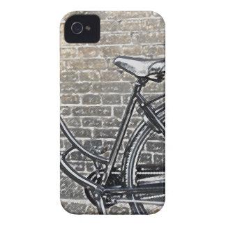 Vélo sur le mur de briques coque iPhone 4