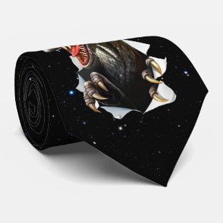 Velociraptor-Dinosaurier in der Raum-Krawatte Krawatte