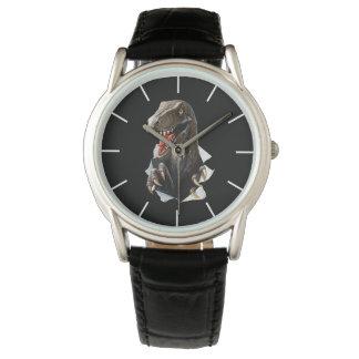 Velociraptor-Dinosaurier-klassische Uhr