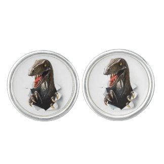 Velociraptor-Dinosaurier-Manschettenknöpfe Manschettenknöpfe
