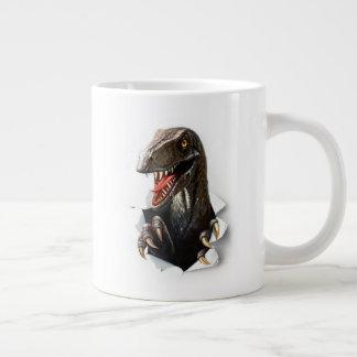 Velociraptor-Dinosaurier-Tunnel-bohrwagenTasse Jumbo-Tasse