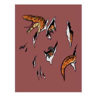 Velociraptor-Entweichen Postkarte
