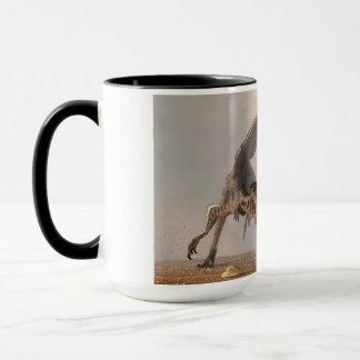Velociraptor-Verfolgung Tasse
