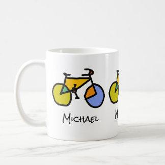 vélos de couleur + nom mug