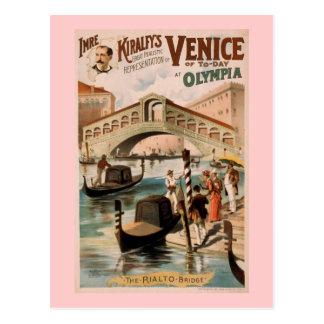 """""""Venedig des heutigen Tages"""" Vintages Theater Postkarte"""