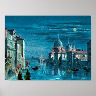 Venedig durch Mondschein Poster