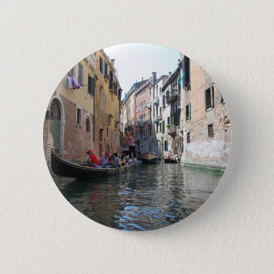 Venedig-Kanal Runder Button 5,1 Cm