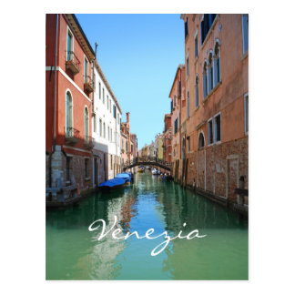 Venedig-Kanalgewohnheitspostkarte Postkarte