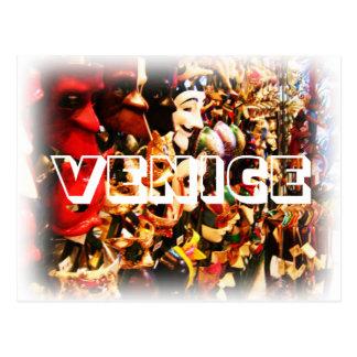 Venedig-Karnevals-Masken-Postkarte Postkarte