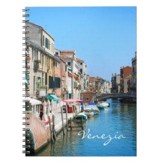 Venedig-Reisenotizbuch Spiral Notizblock