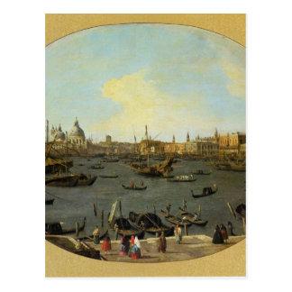 Venedig sah vom San Giorgio Maggiore an Postkarte