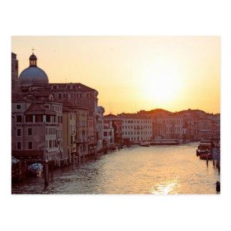 Venedig, Sonnenuntergang auf dem Kanal groß Postkarte
