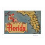 Venez à la carte de la Floride de l'état, fille Cartes Postales