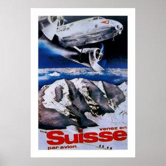 Venez en Suisse ~ kommen in die Schweiz Poster
