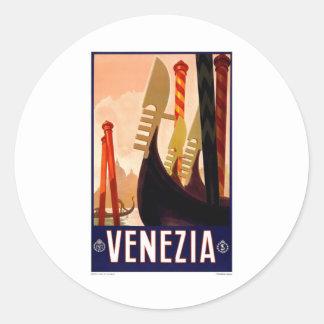 Venezia vintage autocollants ronds