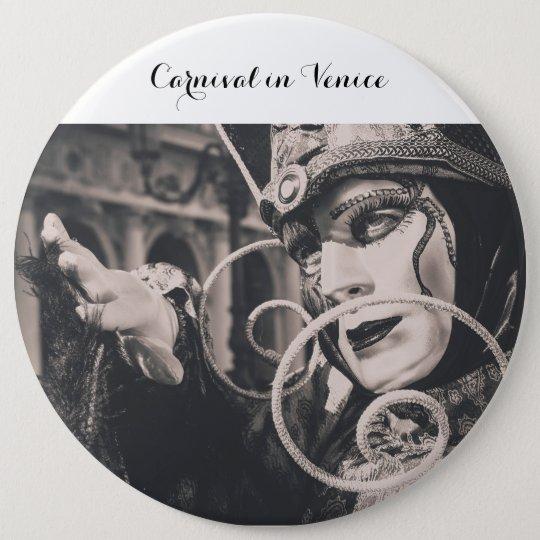 Venezianische Karnevalsmaske Runder Button 15,3 Cm