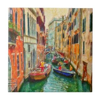 Venezianischer Kanal Venedig Italien Fliese