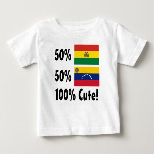 Venezolaner 100% 50% Bolivianer-50% niedlich Baby T-shirt