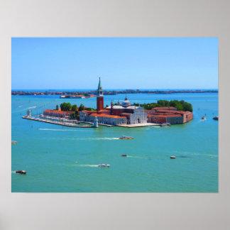 Venice - Island of San Giorgio Maggiore Poster