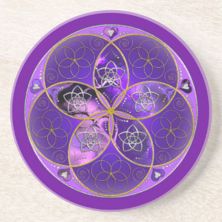 Venus-Blume des violetten Rosas der Liebe-schönen  Untersatz