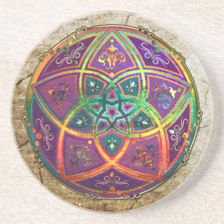Venus-Blume Liebe-schöne Künste orientalischen ant Sandstein Untersetzer