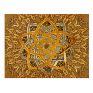 Venus-Blumen-Duo - antikes Metall Postkarte