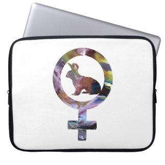 Venus-Kaninchen Laptop Sleeve